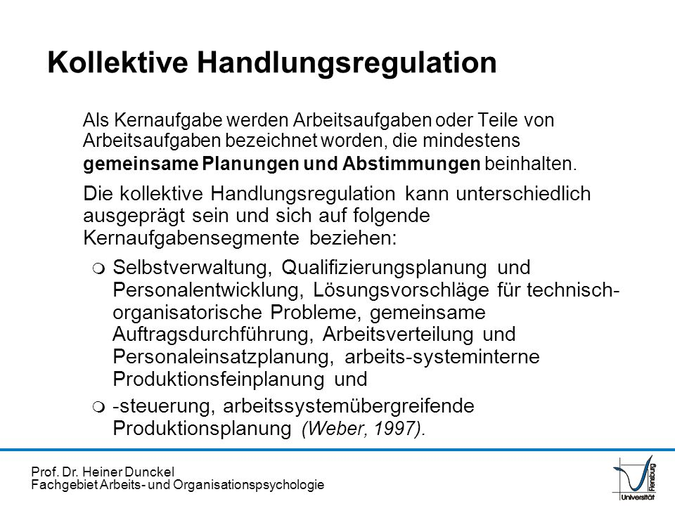 Kollektive Handlungsregulation