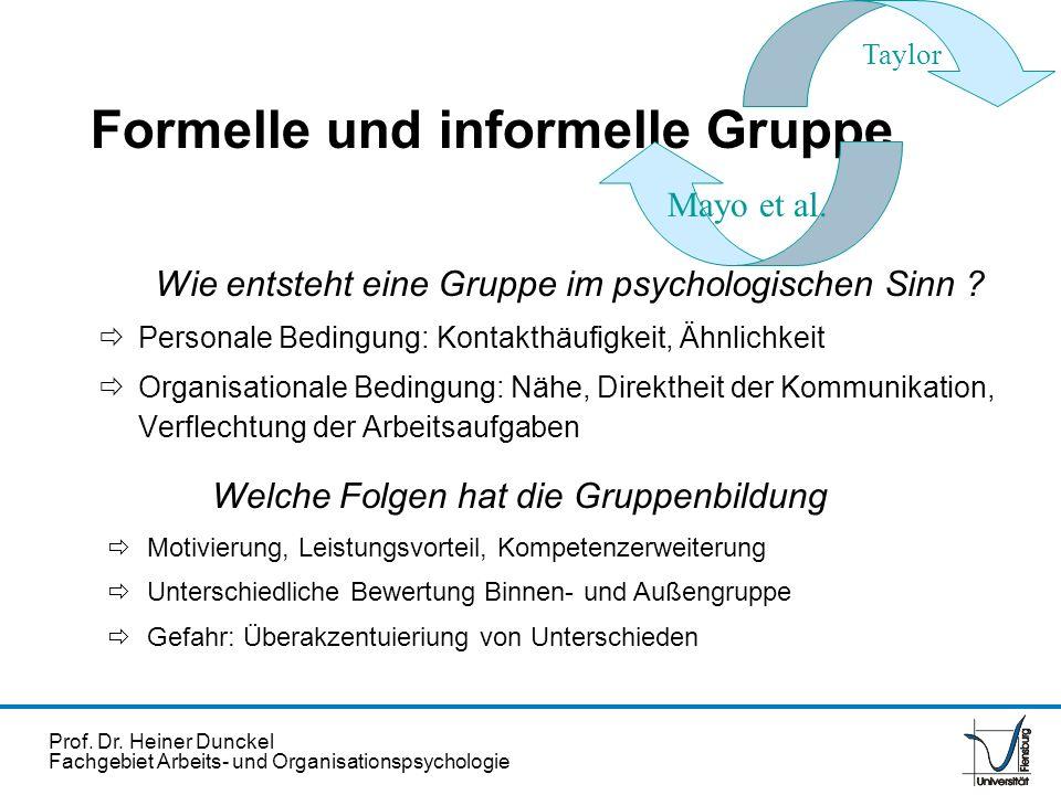 Formelle und informelle Gruppe