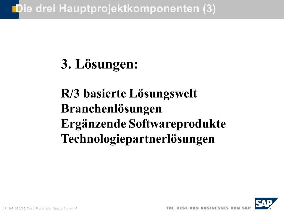Die drei Hauptprojektkomponenten (3)