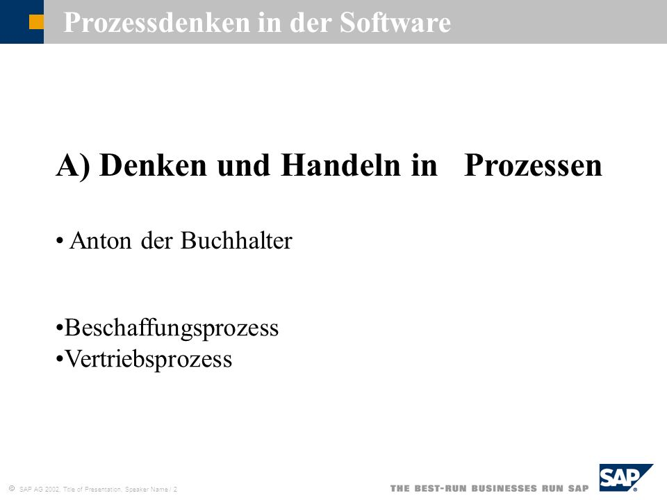 Prozessdenken in der Software