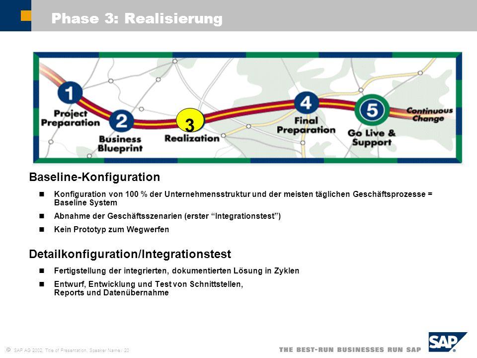 3 Phase 3: Realisierung Baseline-Konfiguration