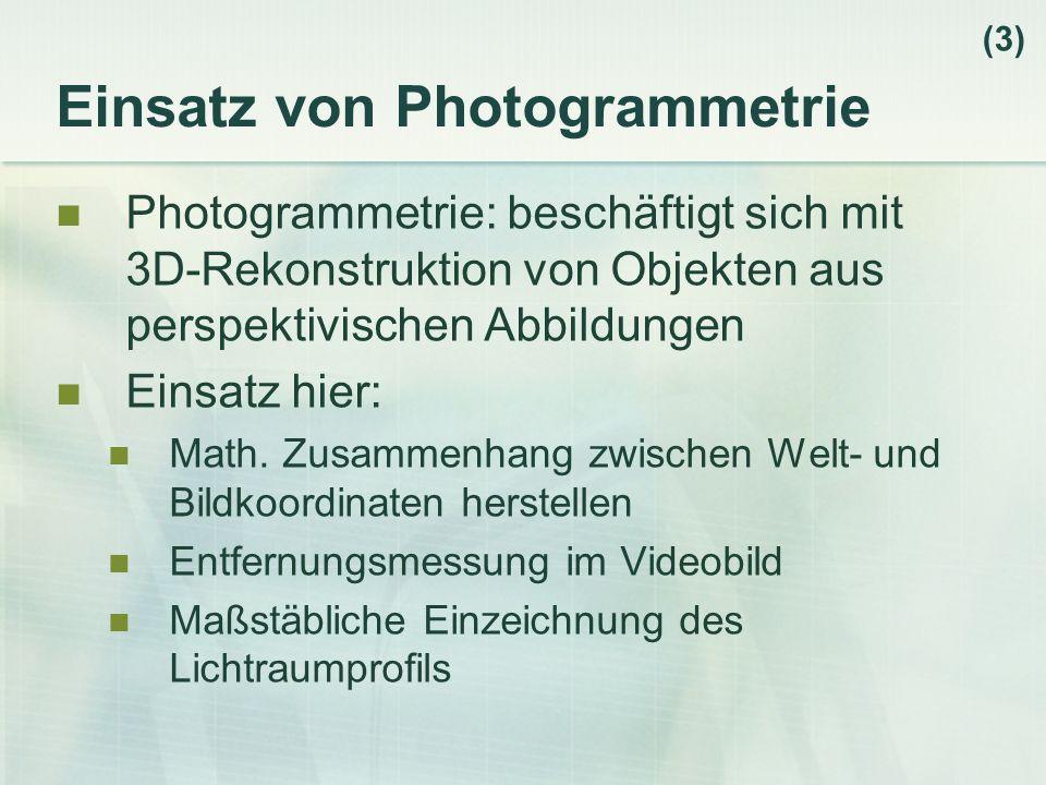 Einsatz von Photogrammetrie