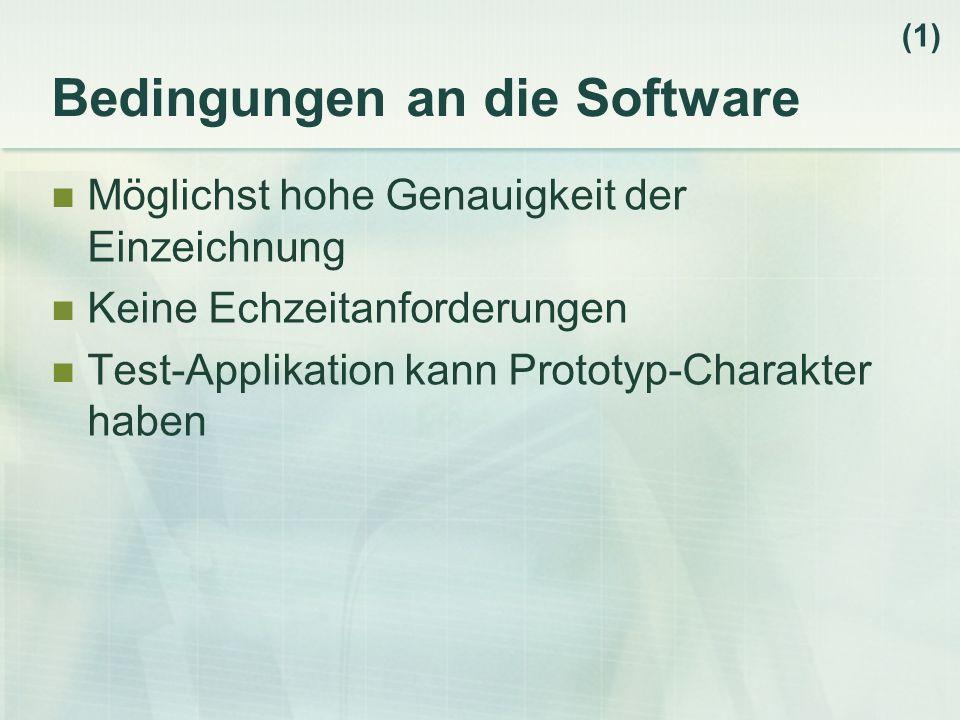 Bedingungen an die Software