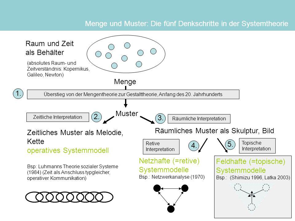 Menge und Muster: Die fünf Denkschritte in der Systemtheorie