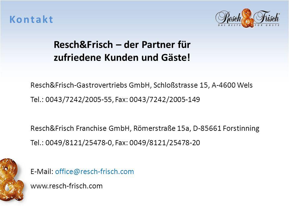 Kontakt Resch&Frisch – der Partner für zufriedene Kunden und Gäste!