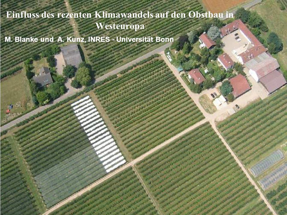 Einfluss des rezenten Klimawandels auf den Obstbau in Westeuropa