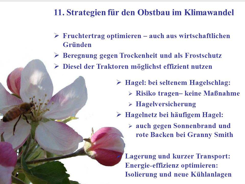 11. Strategien für den Obstbau im Klimawandel
