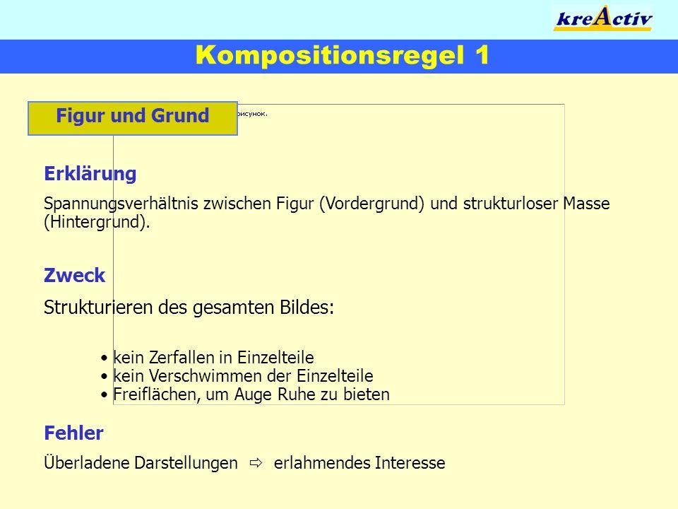 Kompositionsregel 1 Figur und Grund Erklärung Zweck