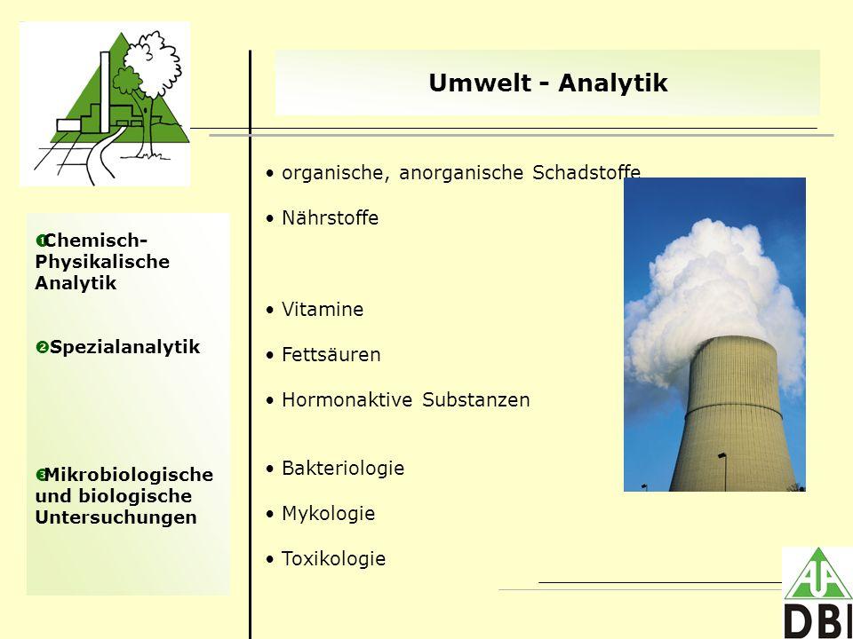 Umwelt - Analytik organische, anorganische Schadstoffe Nährstoffe