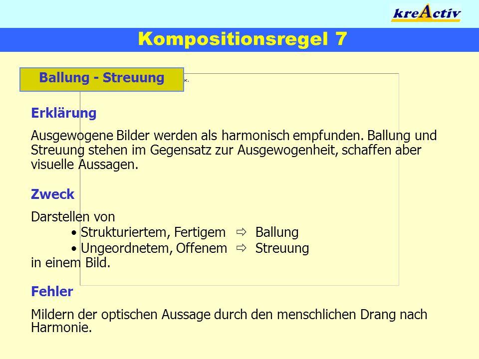 Kompositionsregel 7 Ballung - Streuung Erklärung