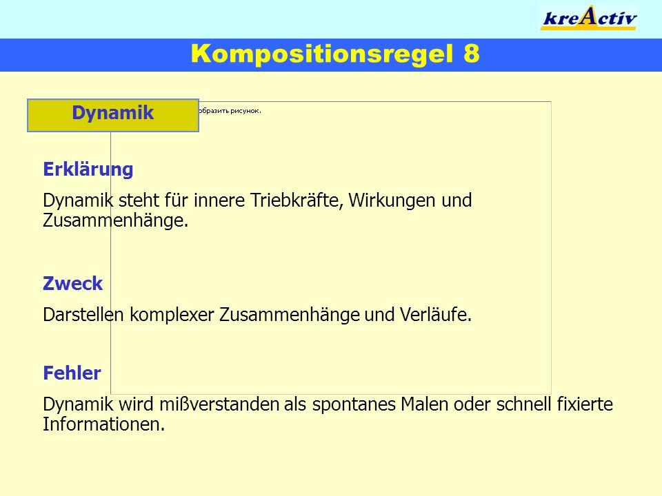 Kompositionsregel 8 Dynamik Erklärung