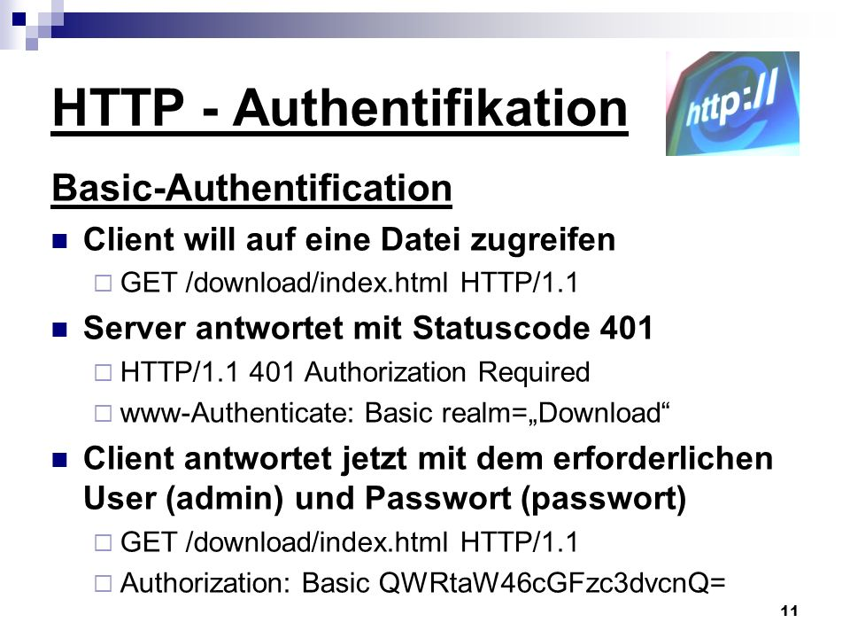 HTTP - Authentifikation