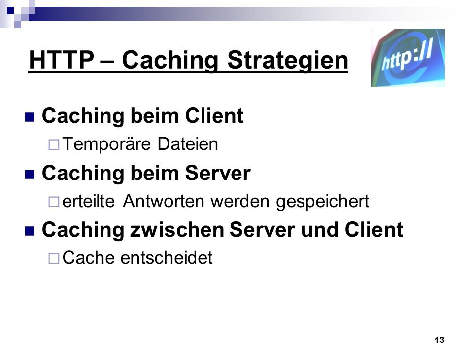 HTTP – Caching Strategien