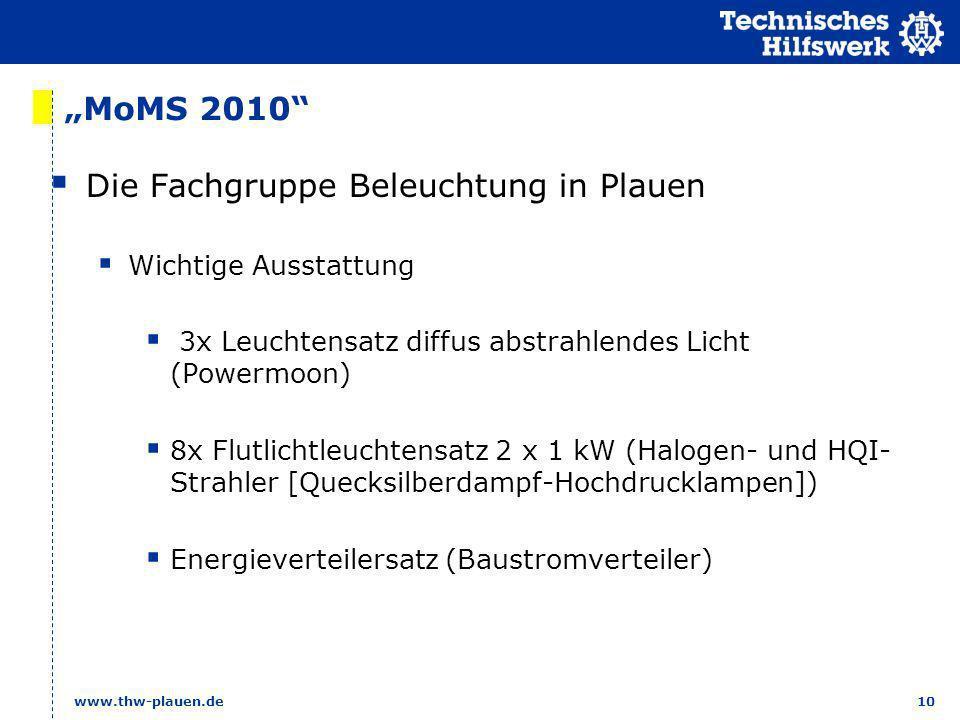 Die Fachgruppe Beleuchtung in Plauen