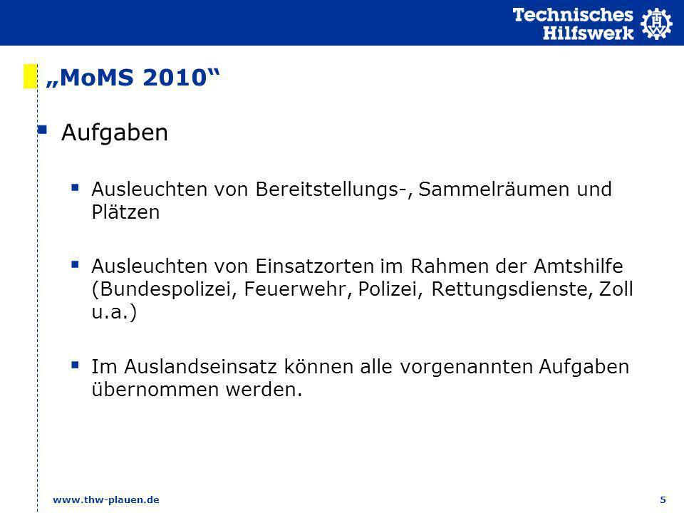 """""""MoMS 2010 Aufgaben. Ausleuchten von Bereitstellungs-, Sammelräumen und Plätzen."""