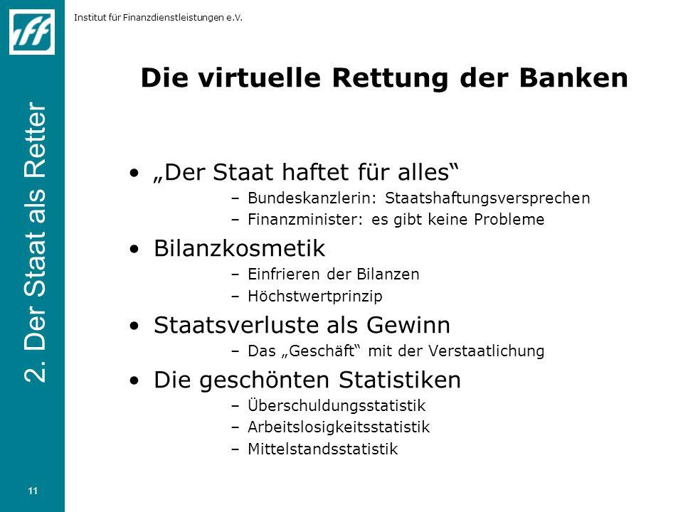Die virtuelle Rettung der Banken