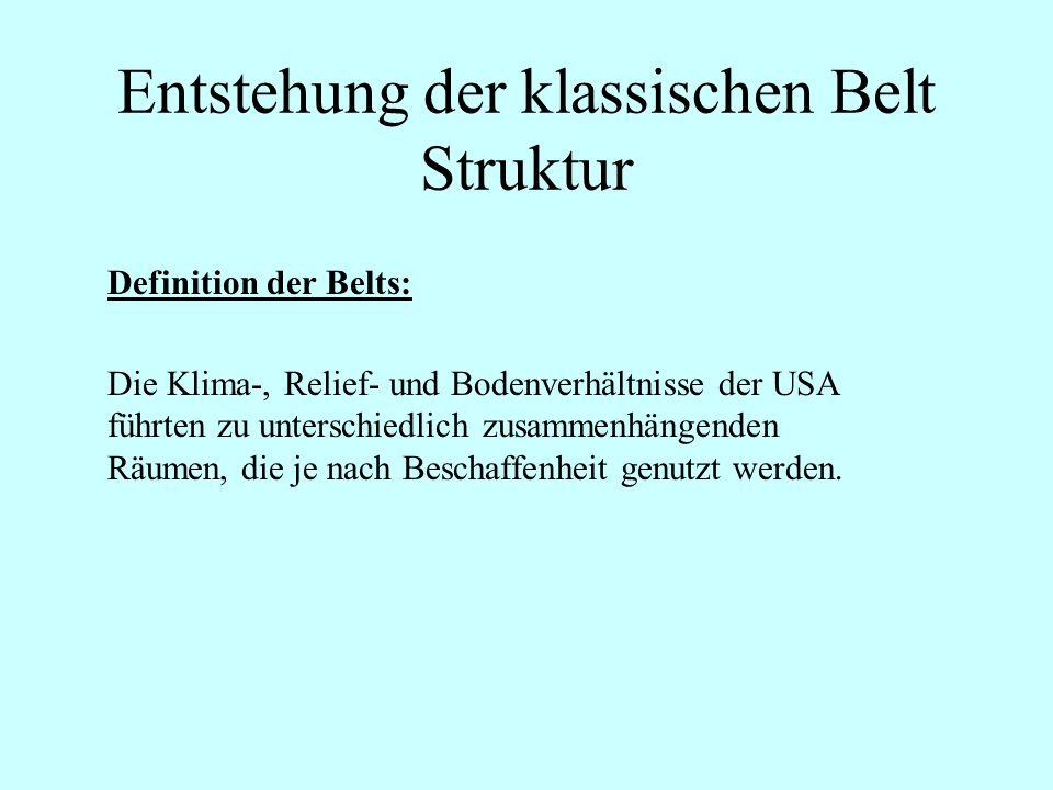 Entstehung der klassischen Belt Struktur