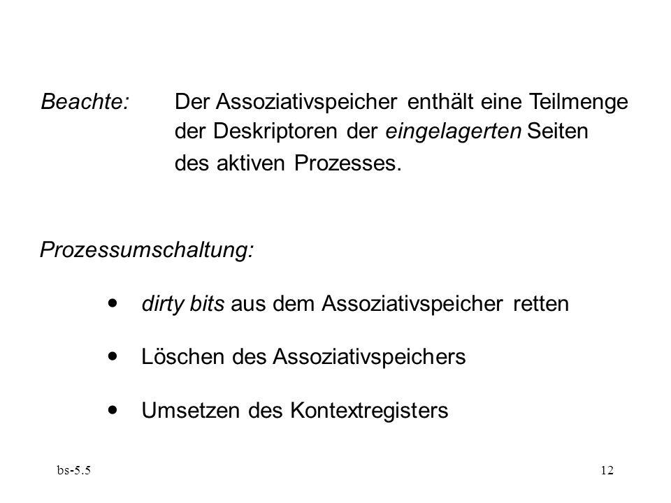 Beachte: Der Assoziativspeicher enthält eine Teilmenge