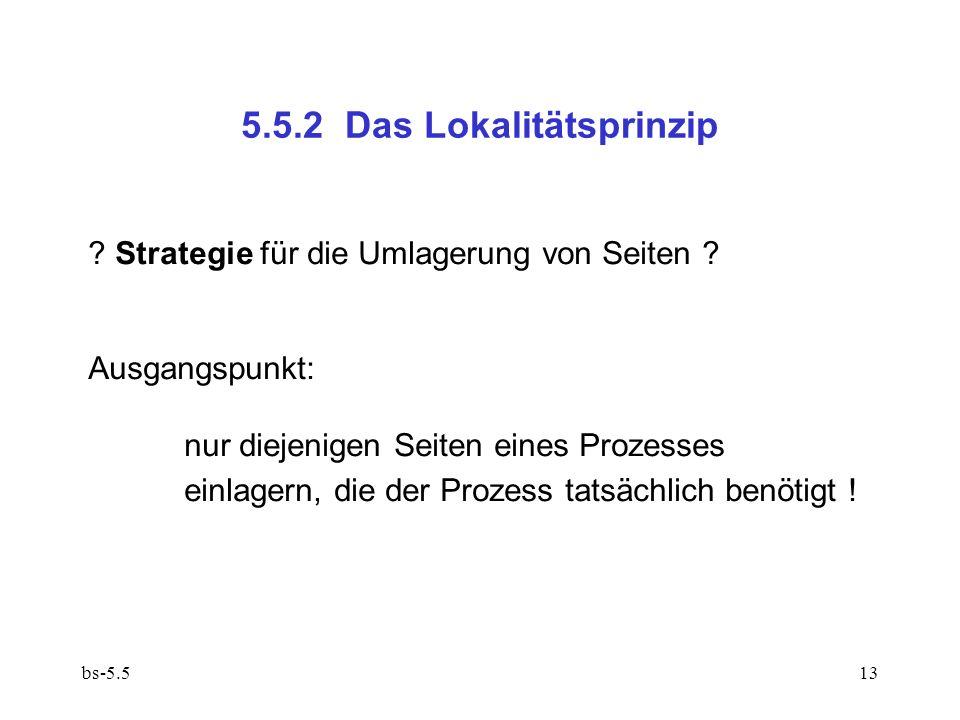 5.5.2 Das Lokalitätsprinzip