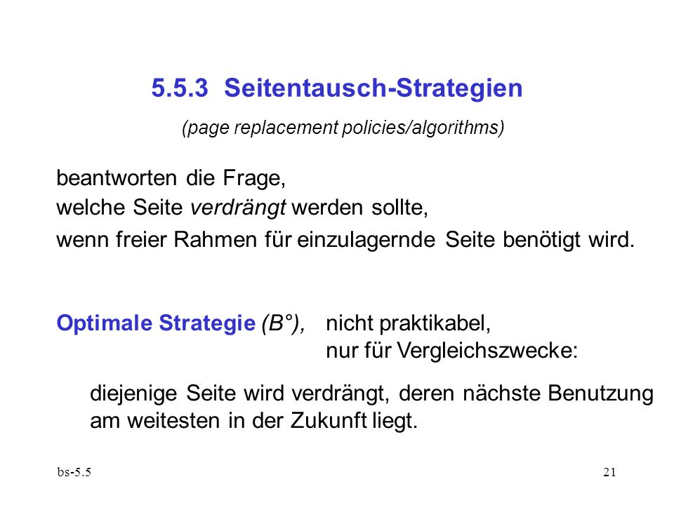 5.5.3 Seitentausch-Strategien
