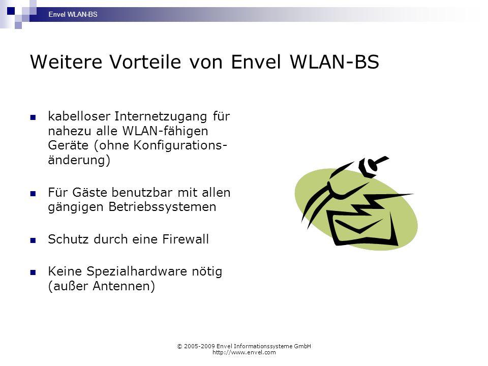 Weitere Vorteile von Envel WLAN-BS