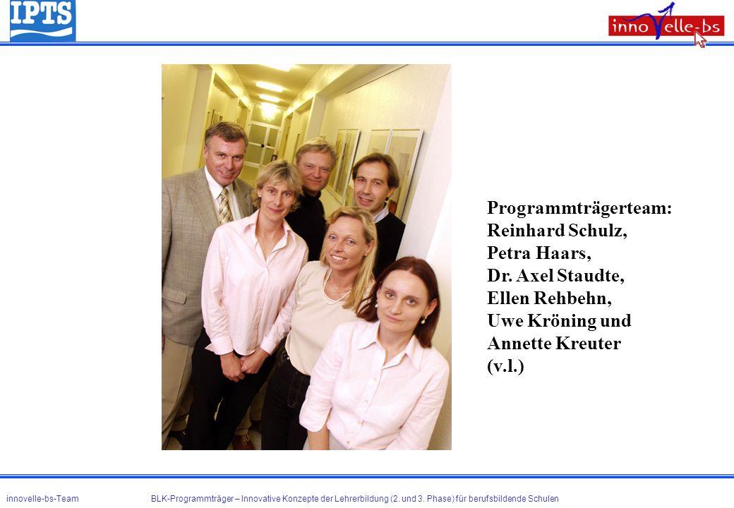 Programmträgerteam: Reinhard Schulz, Petra Haars, Dr. Axel Staudte,