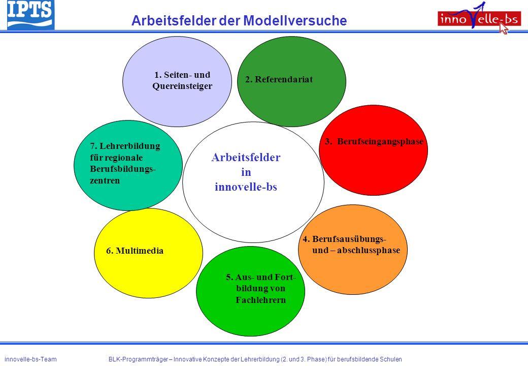 Arbeitsfelder der Modellversuche
