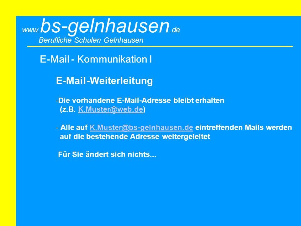 E-Mail - Kommunikation I