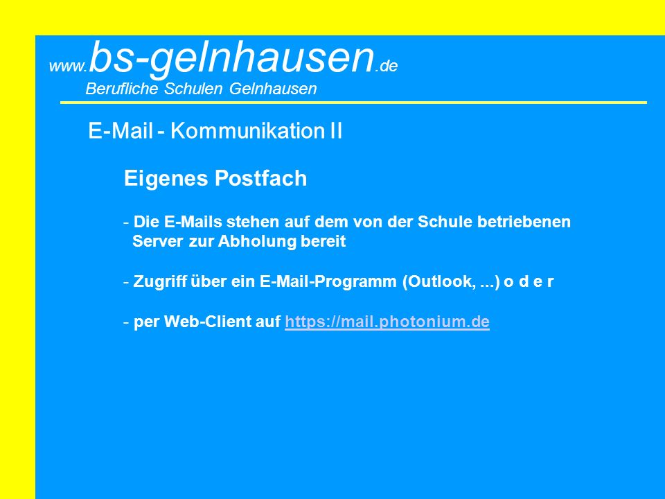 E-Mail - Kommunikation II