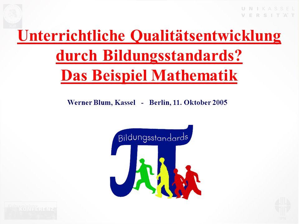 Werner Blum, Kassel - Berlin, 11. Oktober 2005