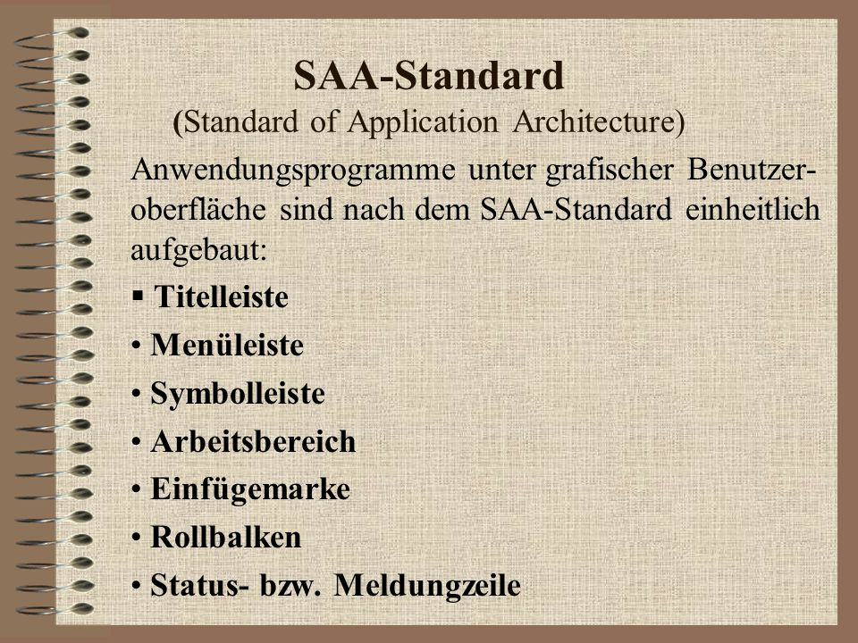 SAA-Standard (Standard of Application Architecture)