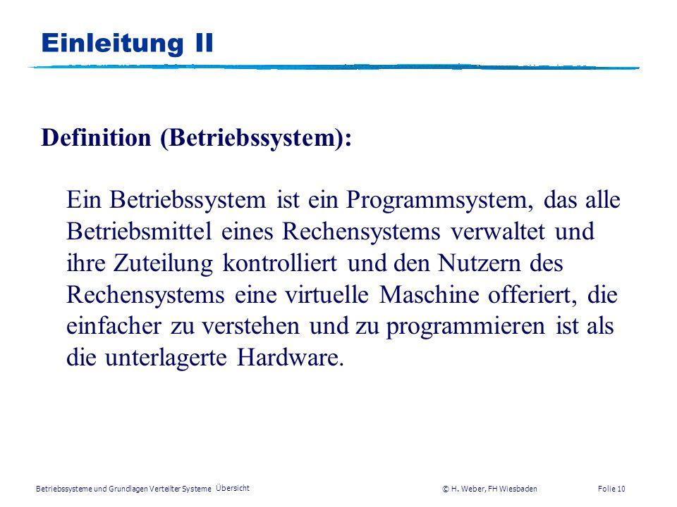 Definition (Betriebssystem):