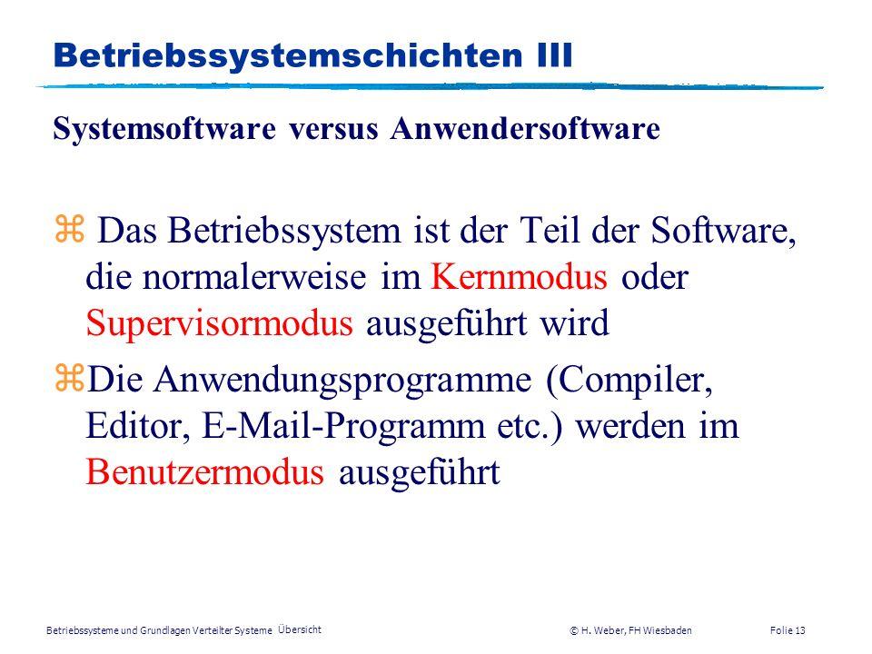 Betriebssystemschichten III