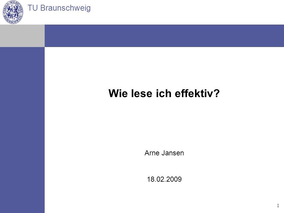Wie lese ich effektiv Arne Jansen 18.02.2009