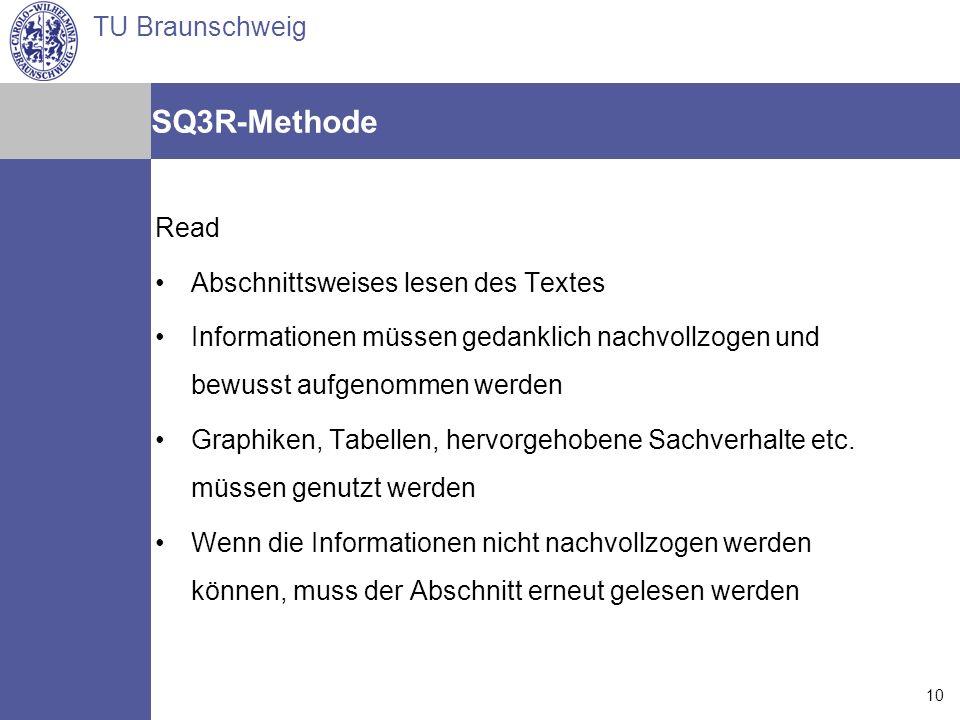 SQ3R-Methode Read Abschnittsweises lesen des Textes