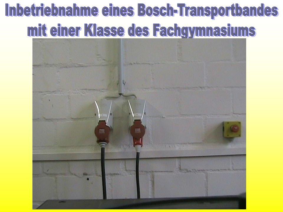 Inbetriebnahme eines Bosch-Transportbandes