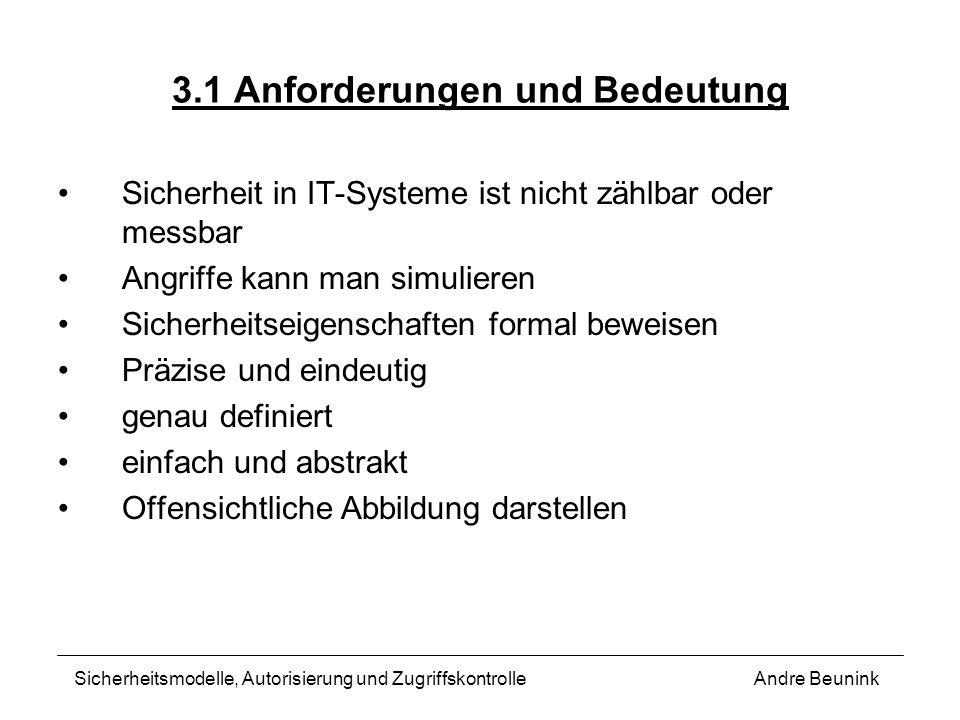 3.1 Anforderungen und Bedeutung