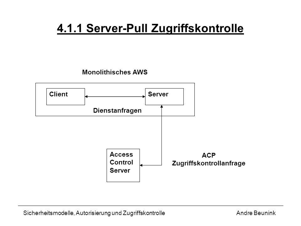 4.1.1 Server-Pull Zugriffskontrolle