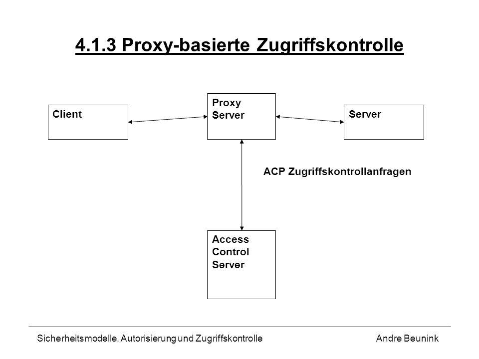 4.1.3 Proxy-basierte Zugriffskontrolle