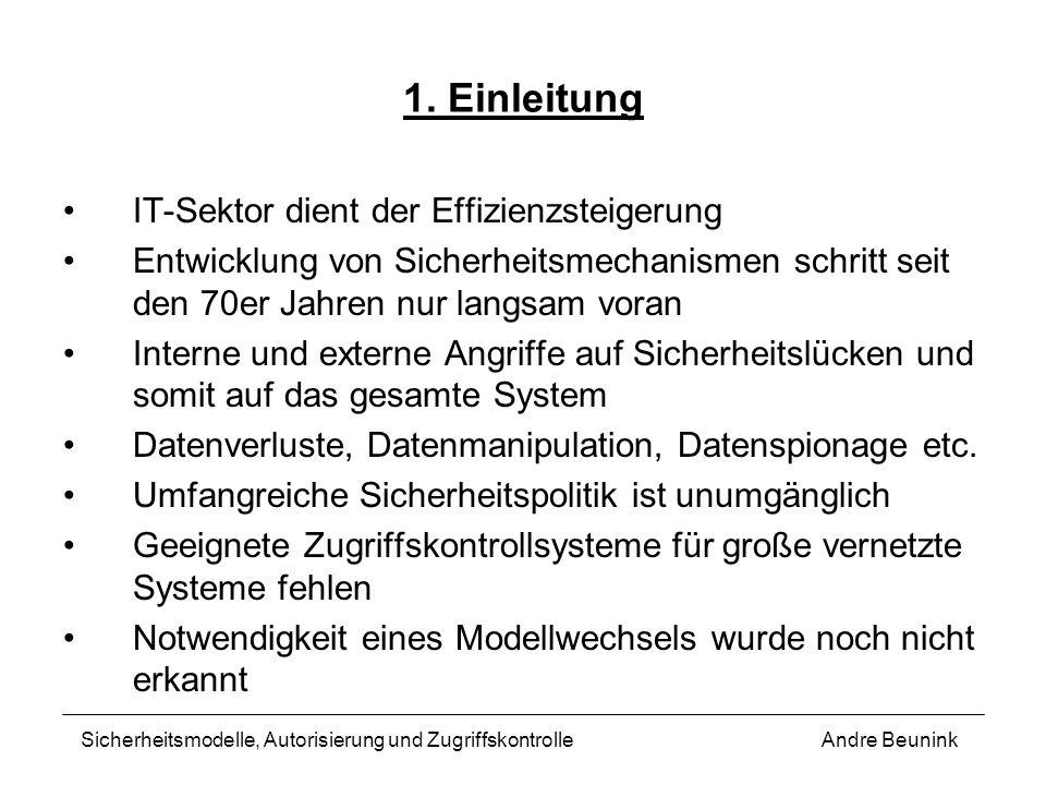 1. Einleitung IT-Sektor dient der Effizienzsteigerung