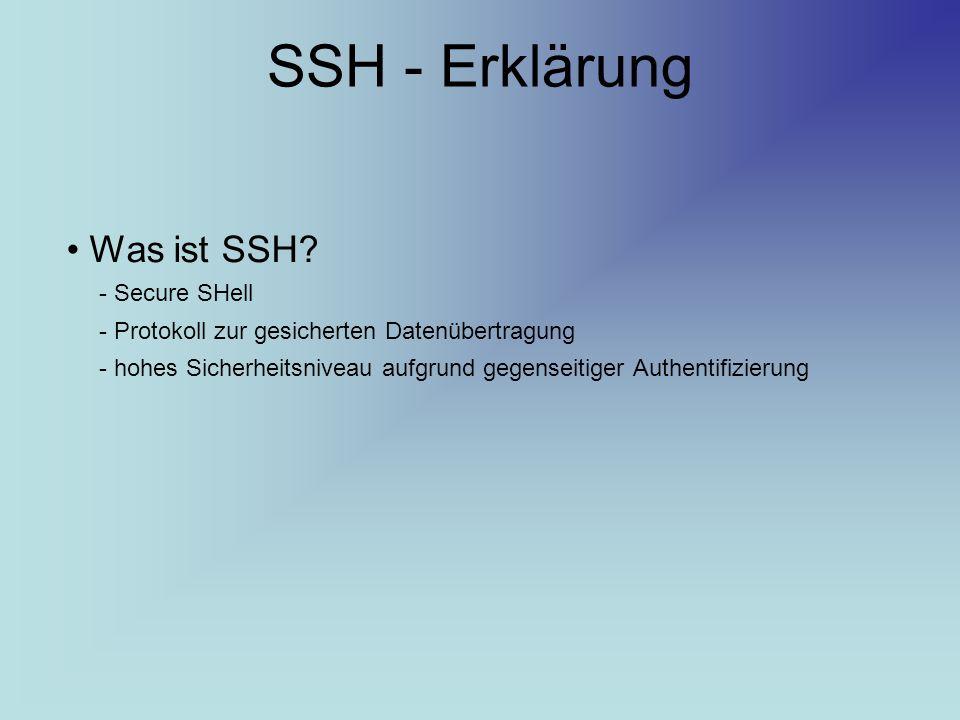 SSH - Erklärung Was ist SSH - Secure SHell