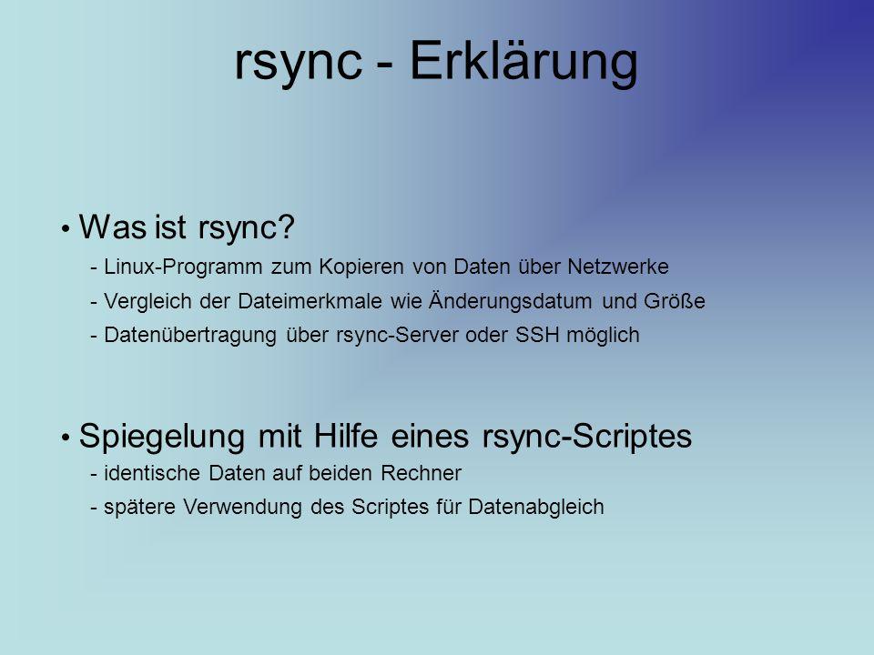 rsync - Erklärung Was ist rsync
