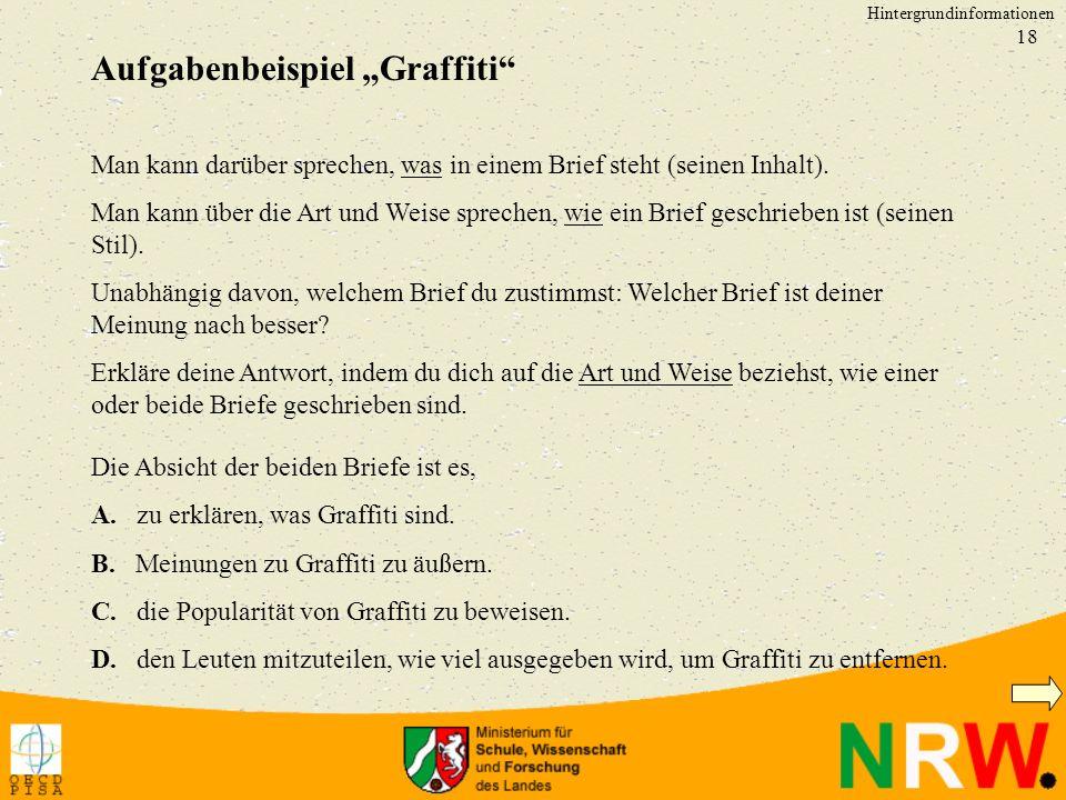 """Aufgabenbeispiel """"Graffiti"""