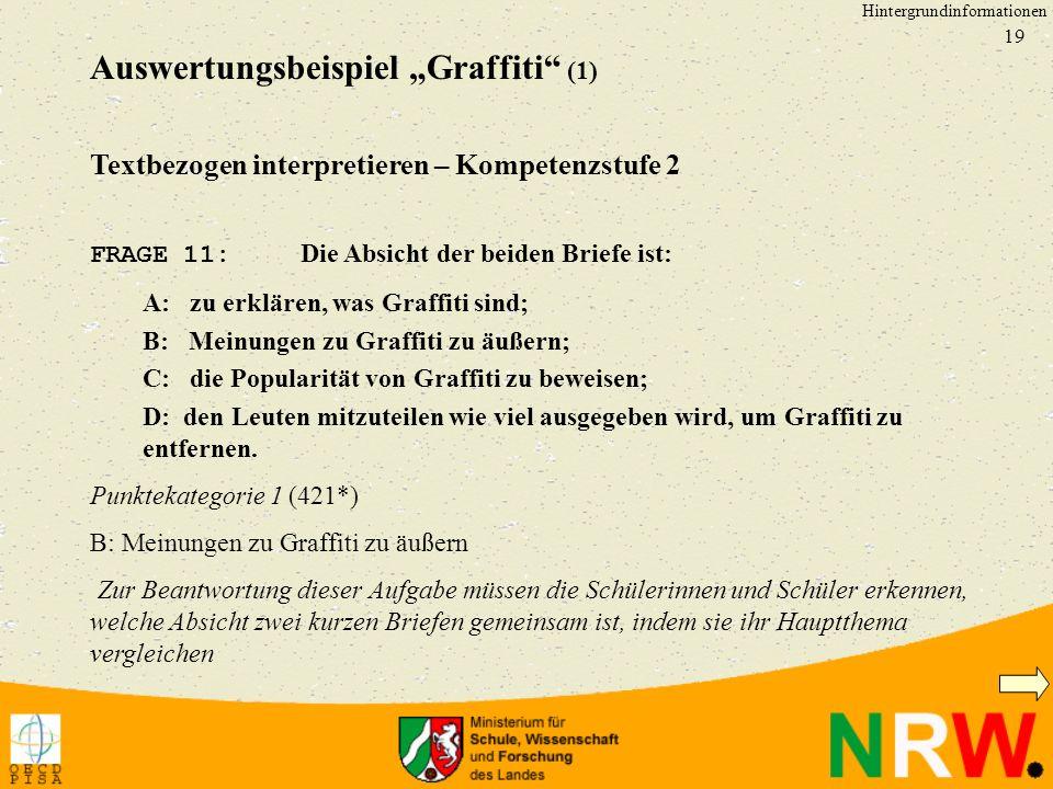 """Auswertungsbeispiel """"Graffiti (1)"""
