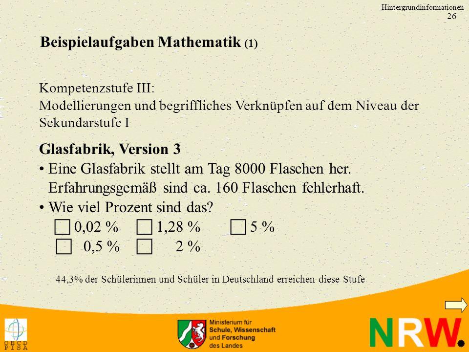Beispielaufgaben Mathematik (1)