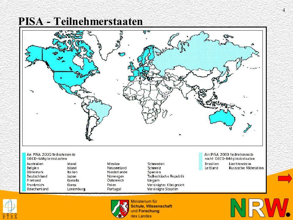 PISA - Teilnehmerstaaten