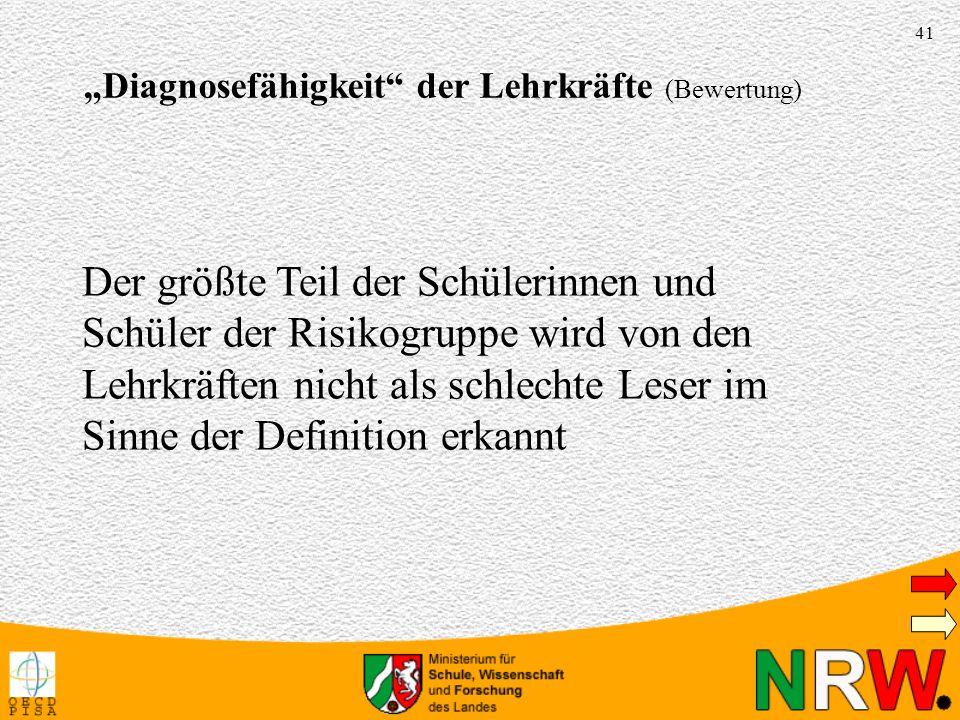 """""""Diagnosefähigkeit der Lehrkräfte (Bewertung)"""
