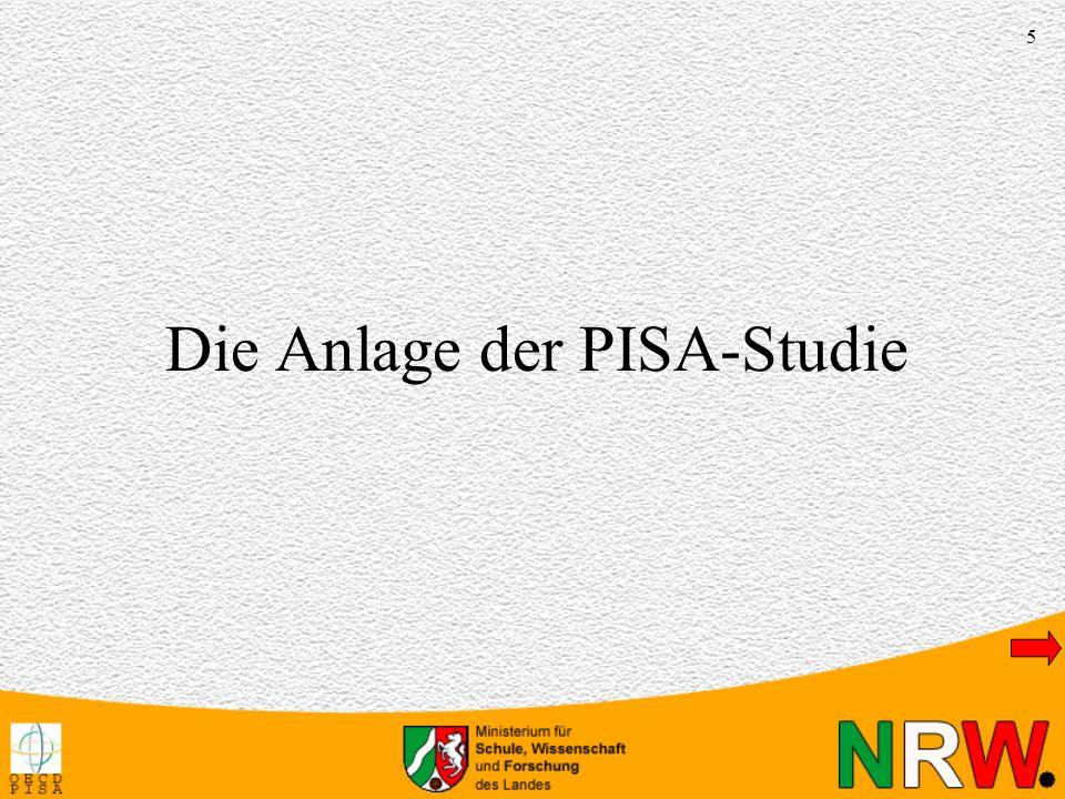 Die Anlage der PISA-Studie