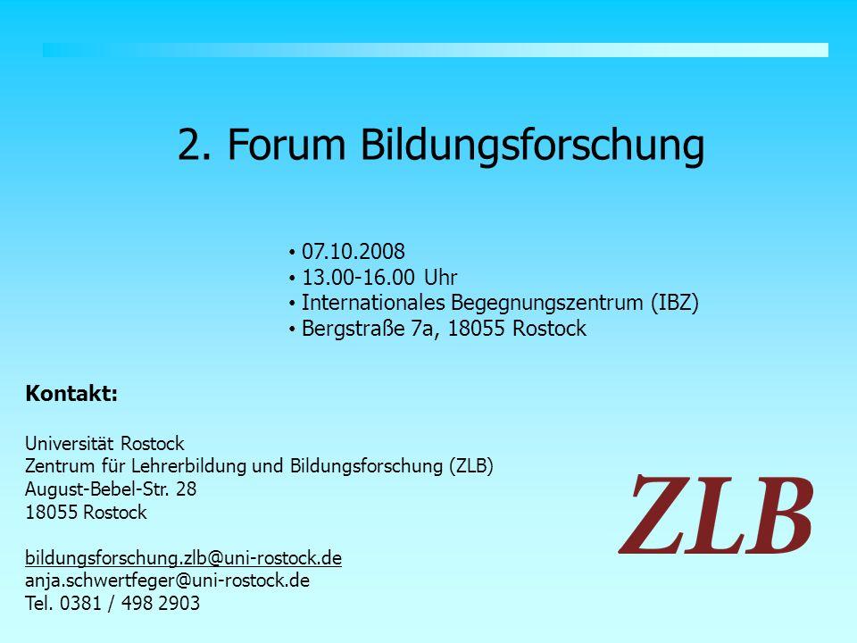 2. Forum Bildungsforschung