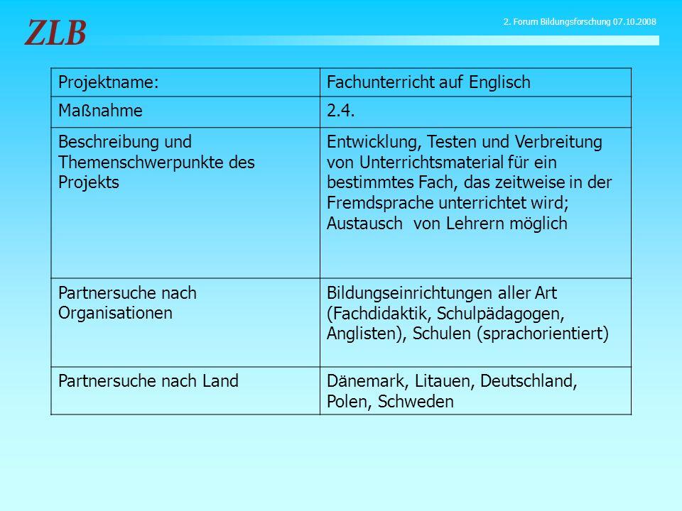 Fachunterricht auf Englisch Maßnahme 2.4.